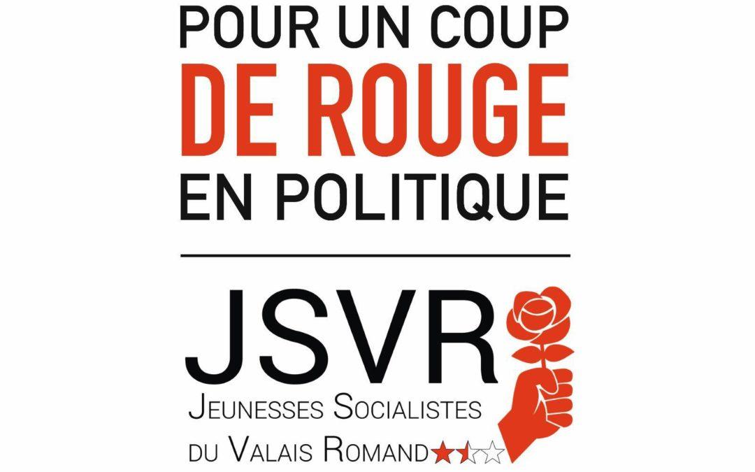 Pour un coup de rouge en politique : Soutenez les JSVR