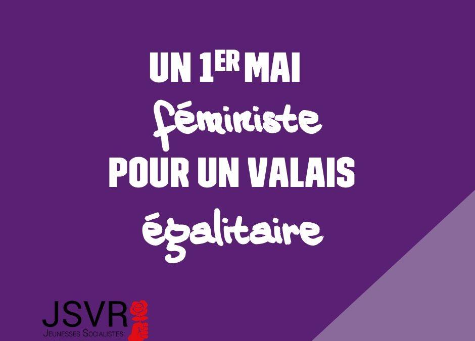 Un premier mai féministe pour un Valais égalitaire !